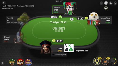 Pokeren bij een online casino